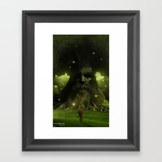 Test thy courage Framed Art Print