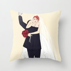 BuckyNat Wedding Throw Pillow