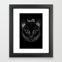 DEATH. (Black) Framed Art Print