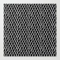 Net Black Canvas Print