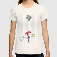 Stupid Rain! Womens Fitted Tee Natural SMALL