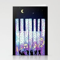 Harmony In The Night Stationery Cards