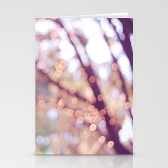 Glitter in the air Stationery Card