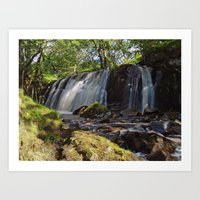 Allt Beochlich Waterfall Art Print