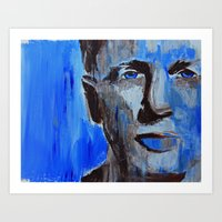 Blue Man Art Print