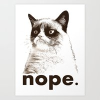 GRUMPY CAT - Nope (versi… Art Print