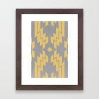 Concrete & Aztec Framed Art Print