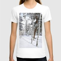 Colorado Scene Womens Fitted Tee White SMALL