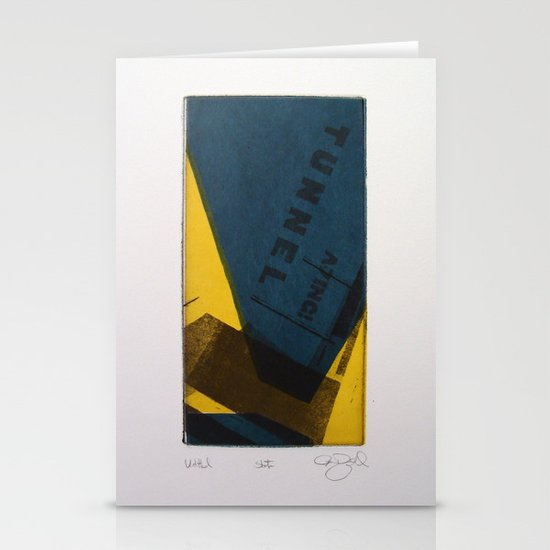 """""""Tunnel"""" Stationery Card"""