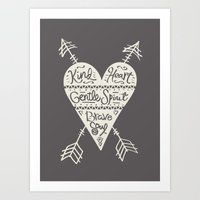 Kind Gentle Brave 2 Art Print