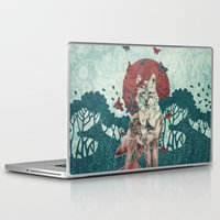lady Laptop & iPad Skins featuring Lady Butterfly by Paula Belle Flores