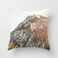 Snowy Mountain Peak In T… Throw Pillow