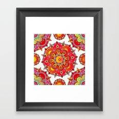 Root Chakra Mandala Framed Art Print