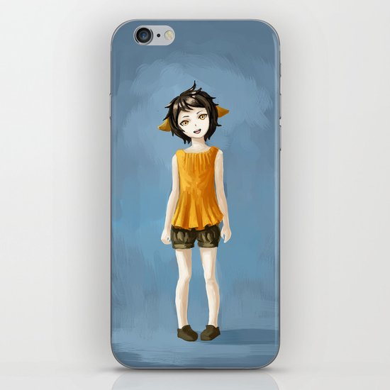 Girl in shorts iPhone & iPod Skin