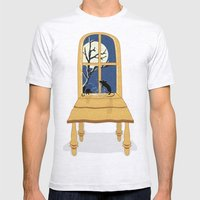Window Seat Mens Fitted Tee Ash Grey SMALL
