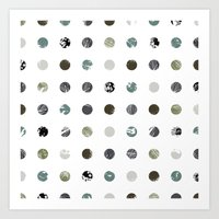 Graphic_Dots Art Print