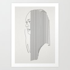One Hairy Line Art Print