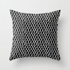 Net Black Throw Pillow