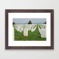 Gone But Not Forgotten Framed Art Print