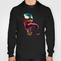 Venom Pixel : Black Background Hoody
