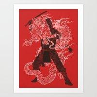 Dragon Ninja Art Print