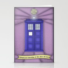 Tardis stained glass Stationery Cards
