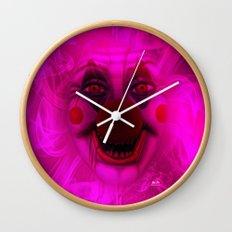 Cotton Candy Clown Wall Clock