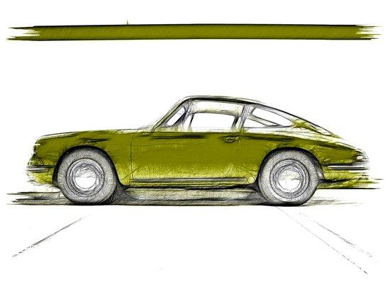 Porsche 911 / IV Art Print