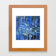 water lilies a la Monet Framed Art Print