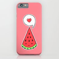 iPhone Cases featuring Watermelon 2 by Freeminds