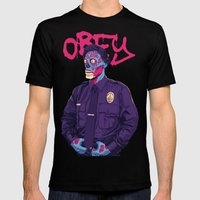OBEY Mens Fitted Tee Black SMALL