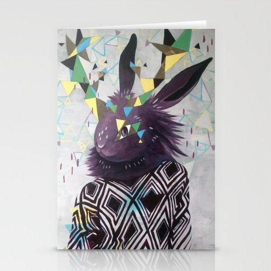 Dark Rabbit Stationery Card