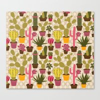 Cactus Cuties Canvas Print