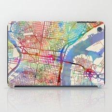 Philadelphia Pennsylvania City Street Map iPad Case