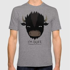Buff. Mens Fitted Tee Tri-Grey SMALL