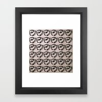 Rows of Flowers, Pink Framed Art Print