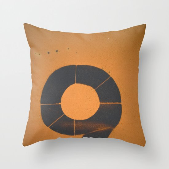 Old Number 9 Throw Pillow