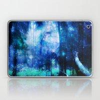 Blue Night #Wood Laptop & iPad Skin