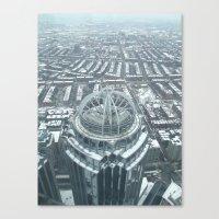 Aerial Boston Canvas Print