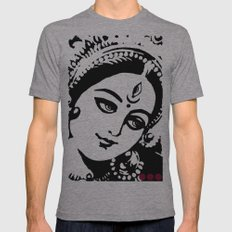 MATARANI Mens Fitted Tee Athletic Grey SMALL