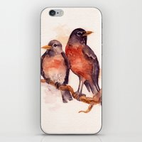 Two Robins iPhone & iPod Skin