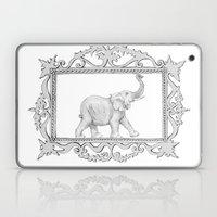 Grey Frame With Elephant Laptop & iPad Skin
