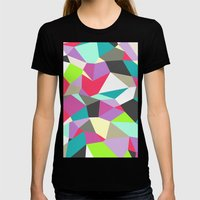 Geomesh 02 Womens Fitted Tee Black SMALL