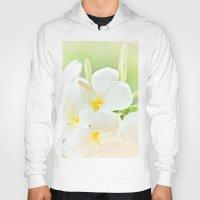 White Plumeria 2 Hoody