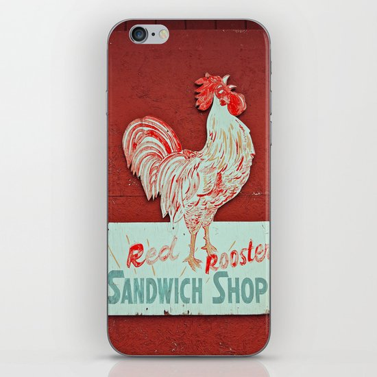 Red rooster iPhone & iPod Skin