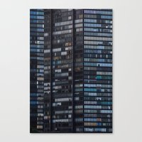 Canvas Print featuring Density - New York City Architecture by Aaron Frey