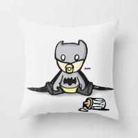 Batbaby Throw Pillow