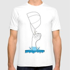 Saved from the waters Mens Fitted Tee White SMALL