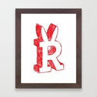 Sharpie Framed Art Print