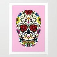 sugar skull Art Prints featuring Sugar Skull by Jade Boylan